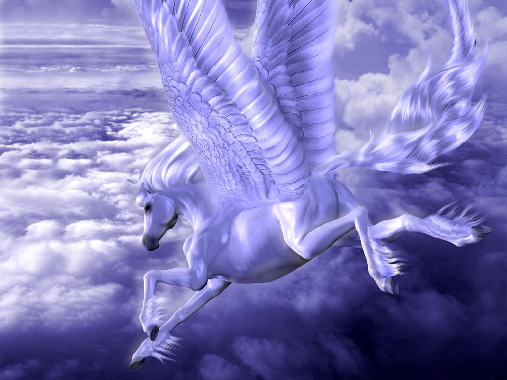 ペガサスのイラスト 壁紙 - Illustration of Pegasus WALLPAPER