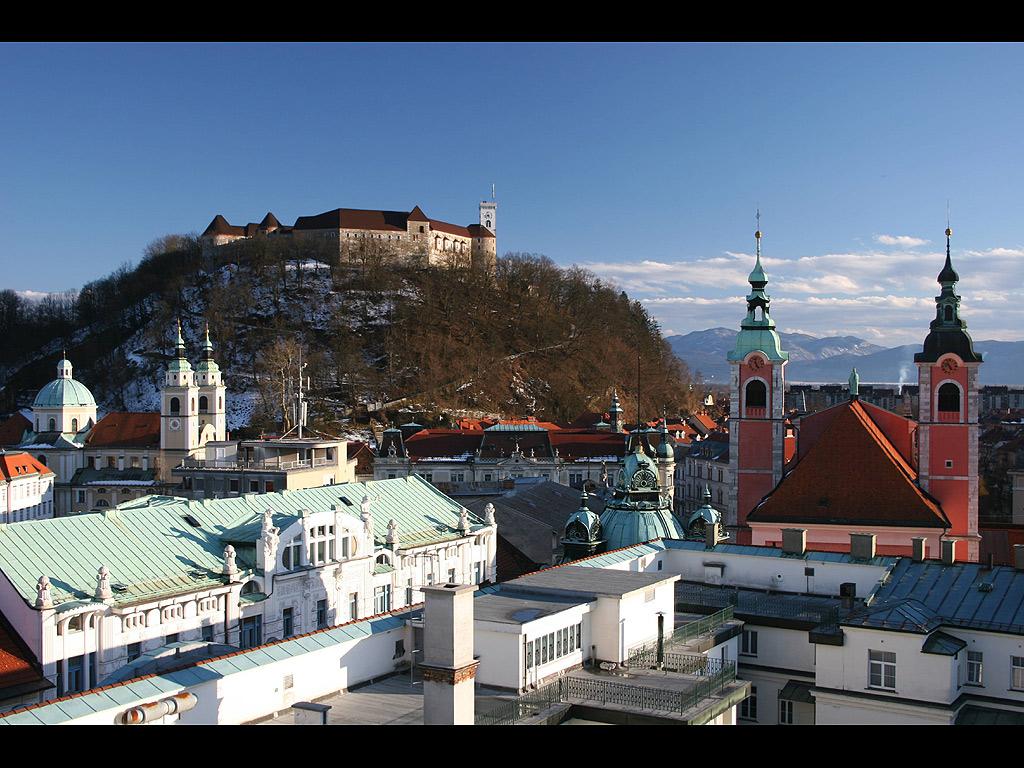 リュブリャーナ(スロベニア) 壁紙 - Ljubljana, Slovenia WALLPAPER