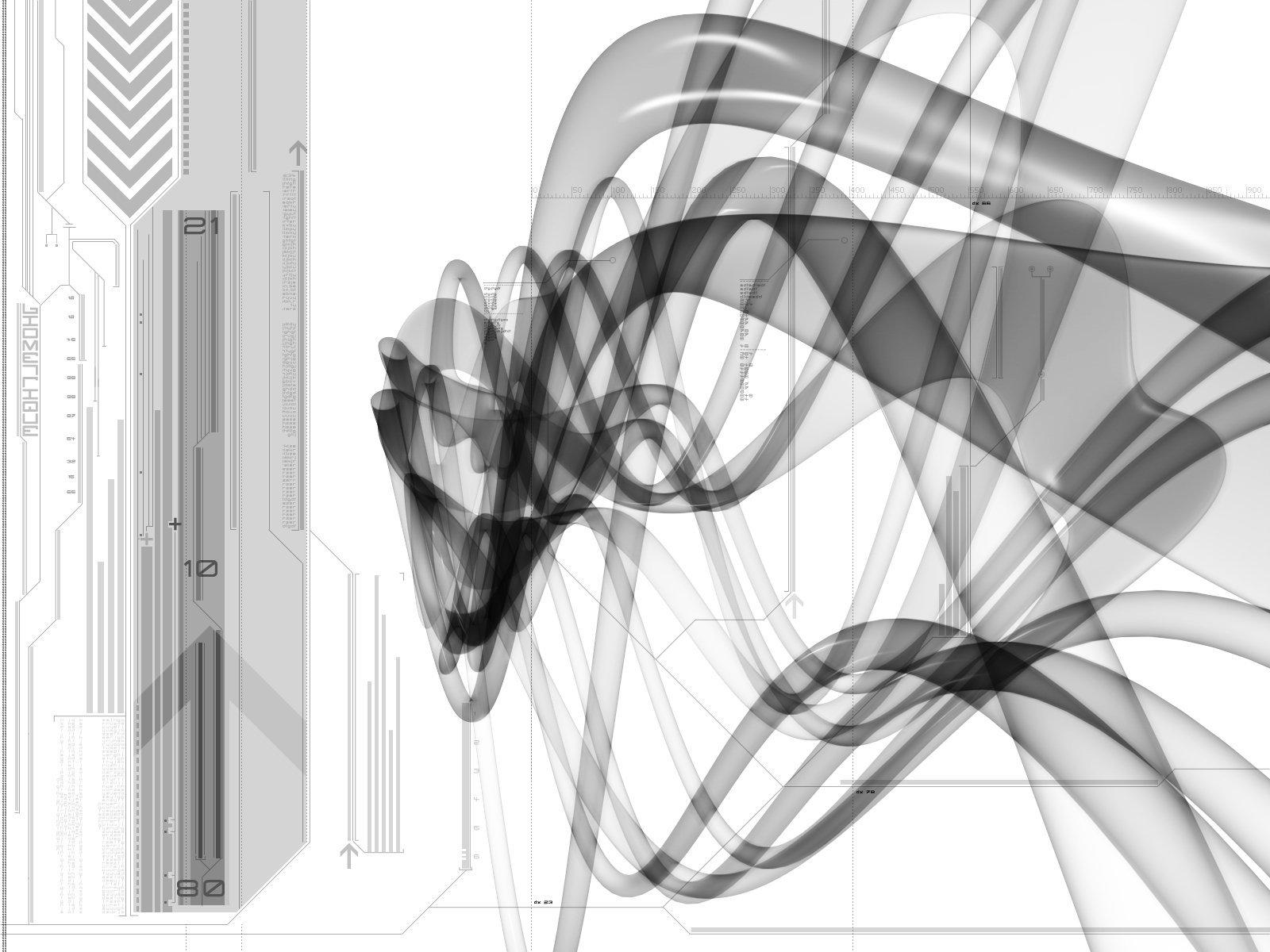 モノクロCG 壁紙 - Computer Graphics WALLPAPER