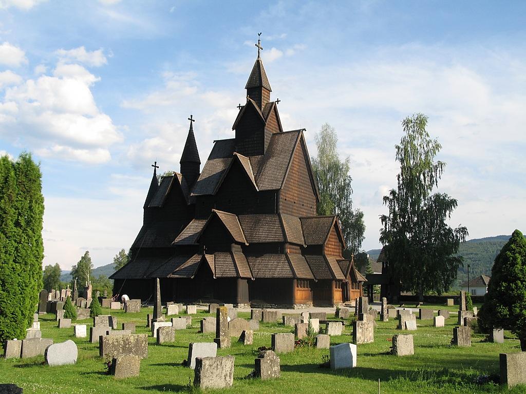 ヘッダールのスターヴ教会(ノルウェー) 壁紙 - Heddal, Norway WALLPAPER