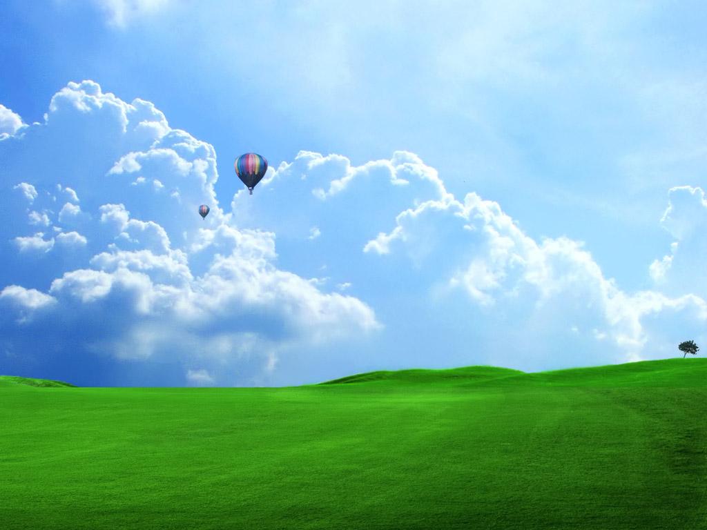 大空と熱気球 壁紙 - Balloon WALLPAPER