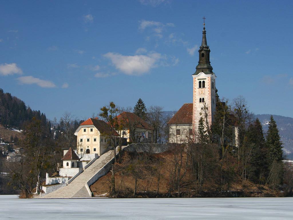 ブレッド湖(スロベニア) 壁紙 - Bled, Slovenia WALLPAPER