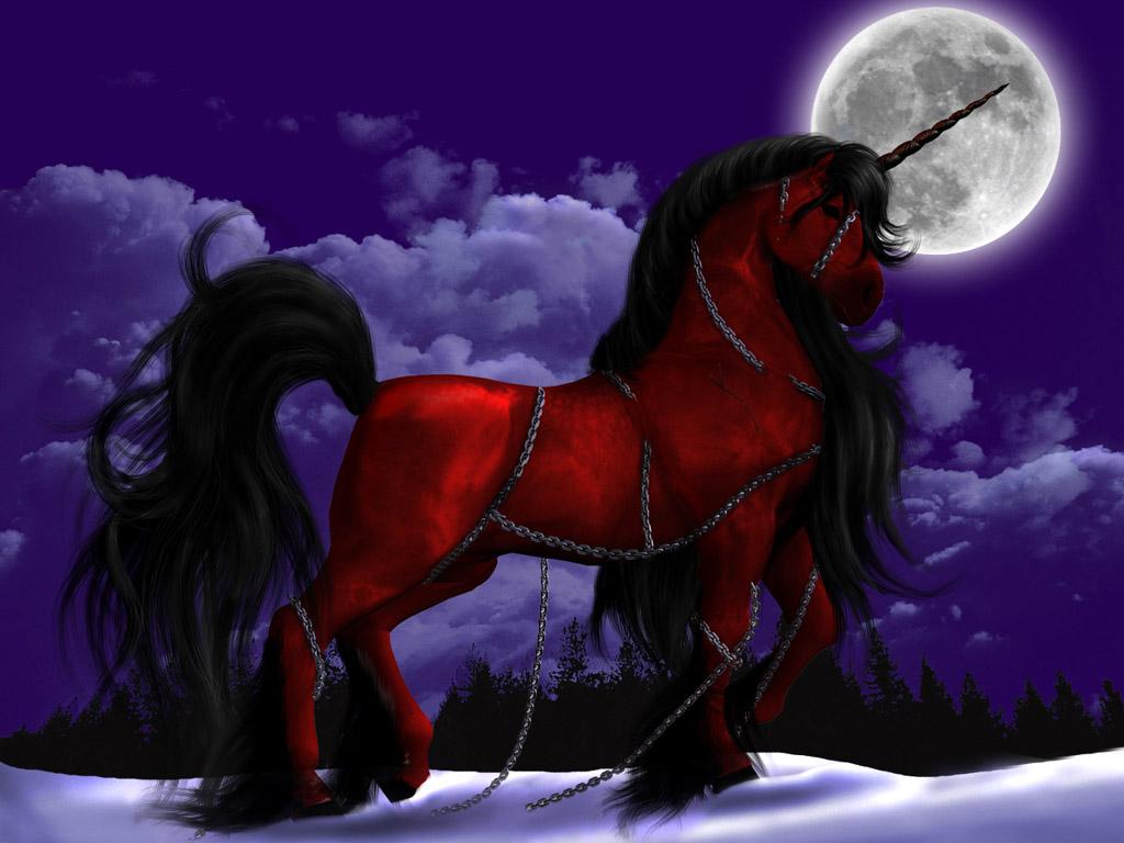 月夜のユニコーン 壁紙 - Unicorn WALLPAPER