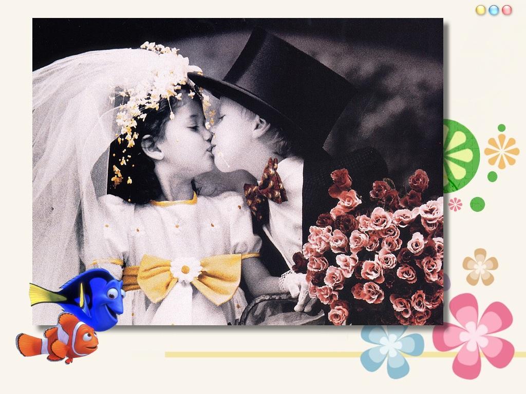 子供の結婚式 壁紙 - Wedding WALLPAPER