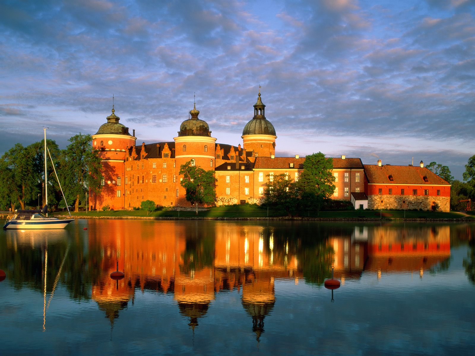 グリプスホルム城(スウェーデン) 壁紙 - Gripsholm Castle, Mariefred, Sweden WALLPAPER