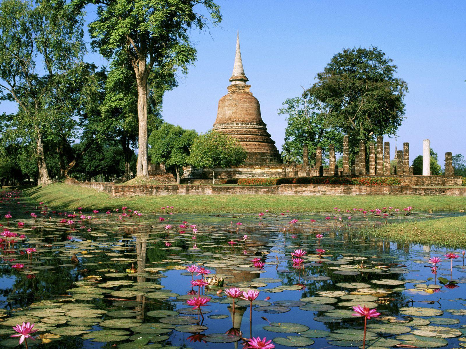 ワット・サ・シー(タイ) 壁紙 - Wat Sa Si, Sukhothai Historical Park, Thailand WALLPAPER