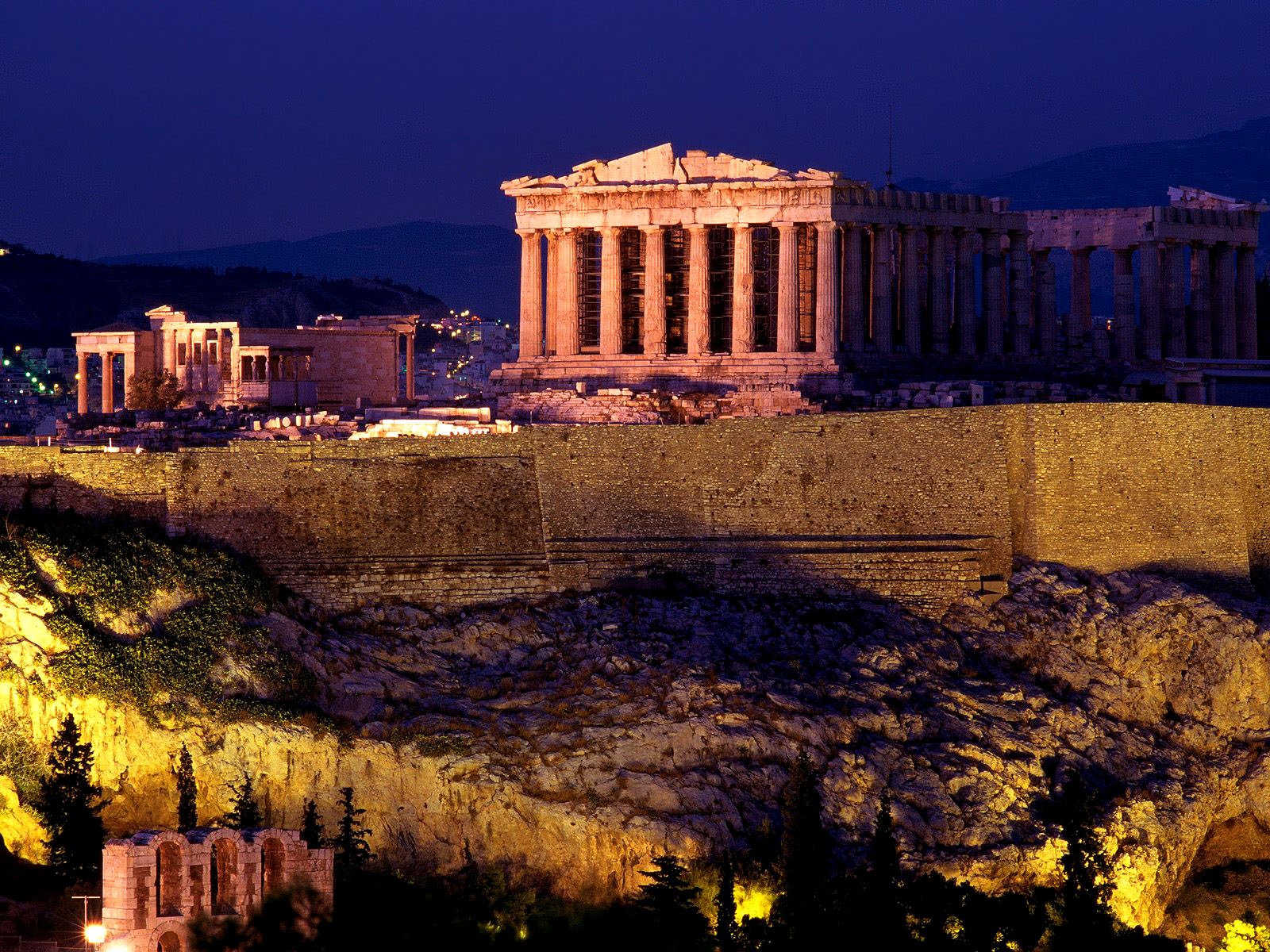 アクロポリス(ギリシャ、アテネ) 壁紙 - The Acropolis, Athene, Greece WALLPAPER